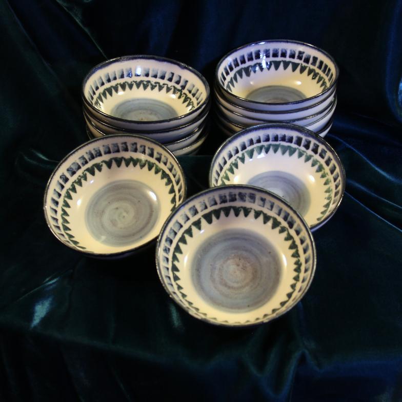 blue and green dessert bowls & Stoneware Dinnerware \u0026 Pottery Tableware Ontario CA | Chatham Pottery
