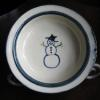 Snowman pattern  3 piece set in the design of your choice $80; bowl or plate alone  $38 cup alone $20