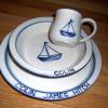 Sail boat Pattern   3 piece set in the design of your choice $80; bowl or plate alone  $38