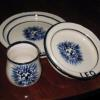 Lion design $80 3 piece set  $38 for either bowl or plate alone  $20 for cup