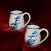 Mugs Wind swept pine available in all Chatham Pottery glaze patterns.  Tapered top keeps hot beverages hot longer, thin lip is comfortable  $25-29 depending on size sets are available Can be used in the microwave oven