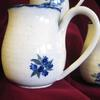 Mugsblueberry available in all Chatham Pottery glaze patterns.  Tapered top keeps hot beverages hot longer, thin lip is comfortable  $25-29 depending on size sets are available