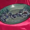 "large Northern Lights platter 13"" diameter 2.5"" high  $150"