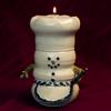 Snowman chef oil lamps Burns 99% paraffin oil available at Michael's, Hobby Lobby and Ace Hardware as well as Chatham Pottery