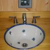 inset (surface mount) blueberry basin $350-450 custom made to meet your space needs